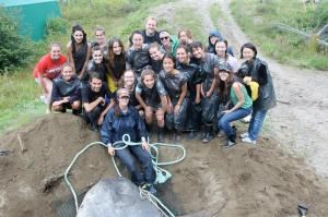 Biology of Marine Mammals class of 2013. From left to right, top: Megan Corrigan, Megan Mickle, Danielle Lands, Tom Freeman; 2nd from top: Jaimie Wylie, Brittany Barbeau, Emily Guevara, Aoxue Tang, Alex Mackinnon, Sophie Wolvin, Veronique Despres; 3rd from top on right: Emily Boulanger, Nadia Dalili, Nour Zein, Rachel Gould, Yifu Wang; bottom: Yann Pouliot, Katheryn Kastner, Julia Schertzer, Minh Thu Le, Melanie Badea, Instructor: Amanda Babin